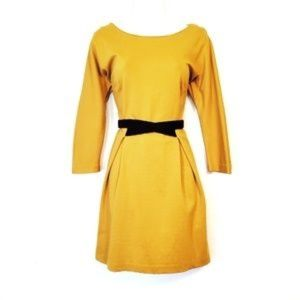 Girls from Savoy Mustard Belted Dress